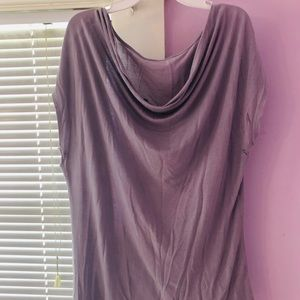 Tops - Light, lavender cowl neck blouse